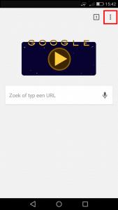 Android chrome menu