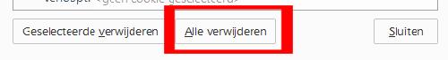 Firefox alle verwijderen