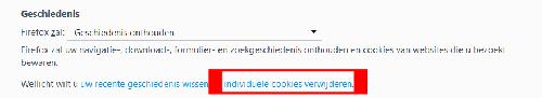 Firefox individuele cookies